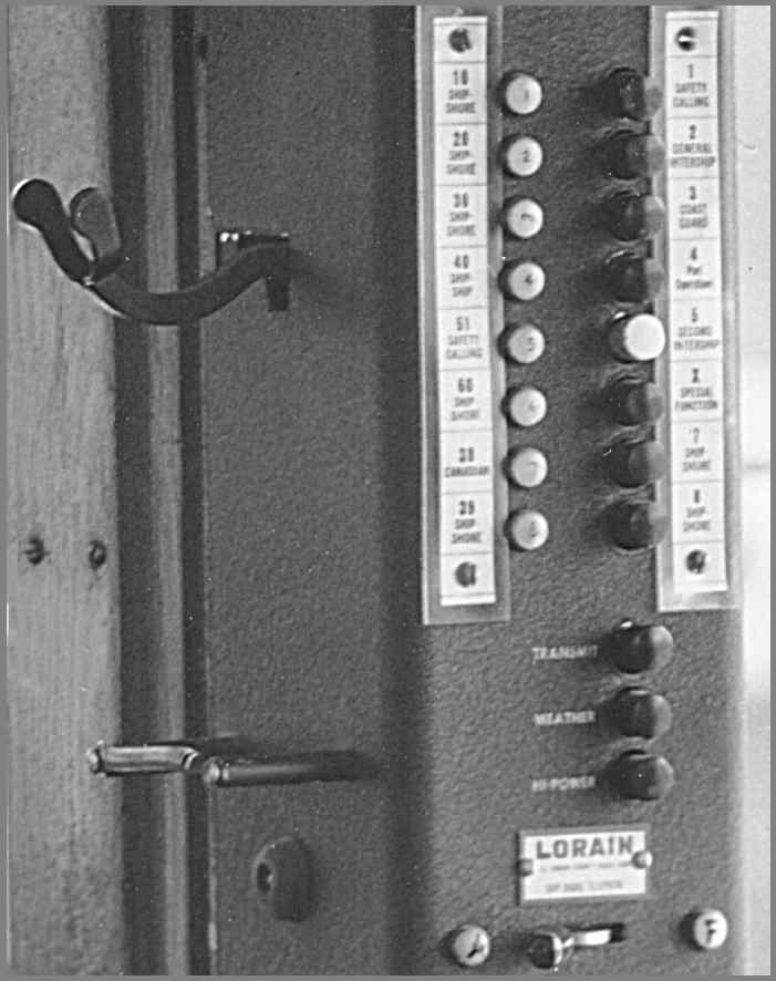 Enlarged view of control head showing channel information