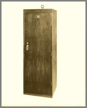 6 foot high woodgrain finished LC-50 D cabinet