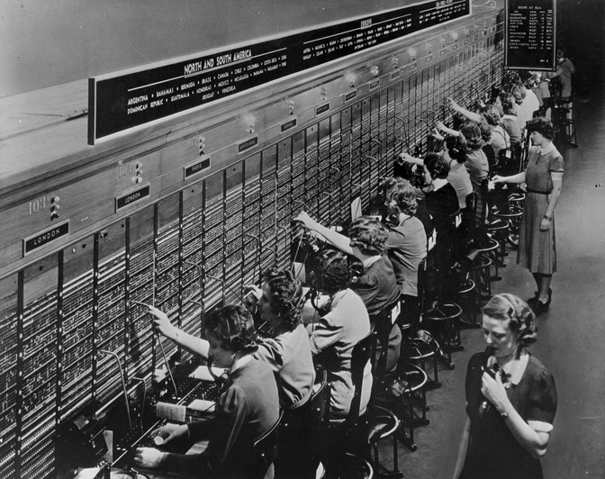 NY Overseas switchboard in 1943