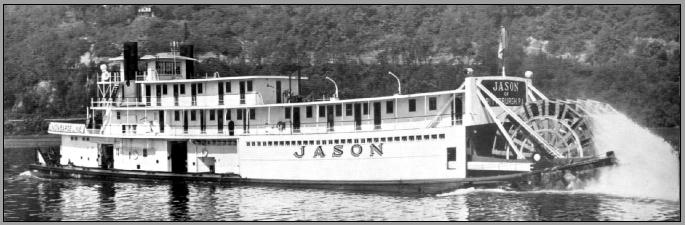 Sternwheeler Jason - B and W photo