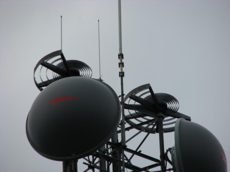Top of radio tower