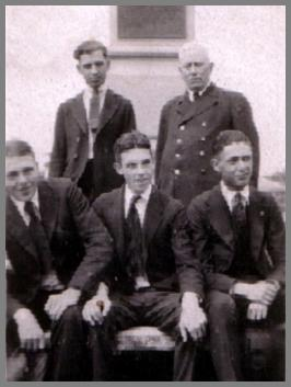 Wilson Edward Weckel Sr. front row, right, in front of the captain.
