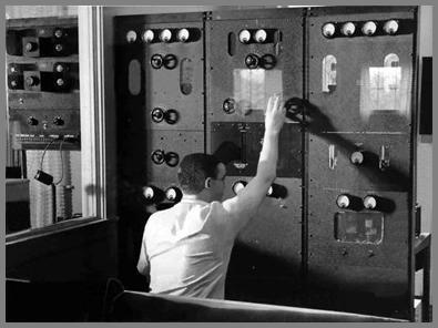 Thorn Donnelley at WAY controls in 1938