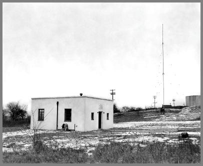 WCM building & vertical antenna - Looking southwest
