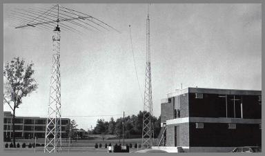 WFN antenna farm and new building addition.