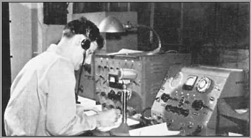 Operator at the WGK operating position about 1950
