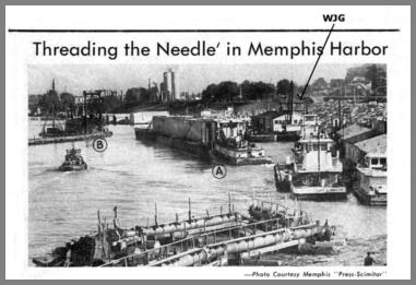 Memphis Harbor showing WJG's first location