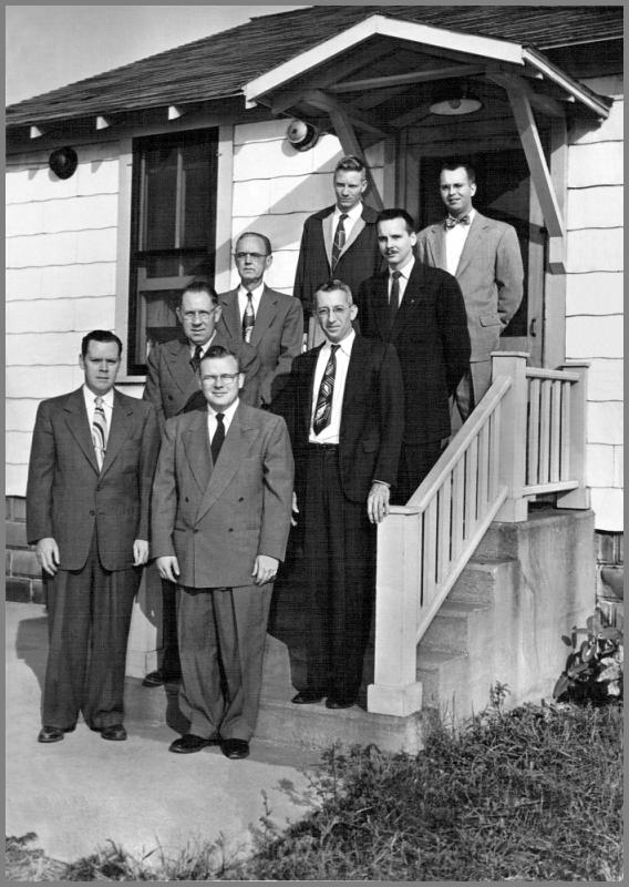 The WLC Crew in 1953 - photorgraphed in front of the station