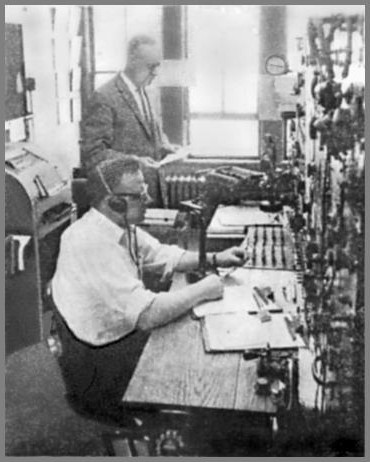 Bob Crittendon and Harvey Pelz in the WLC operating room in the 1950s or 60s.