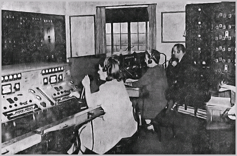 Scan of Journal photo of the WMI operating room in late 1946