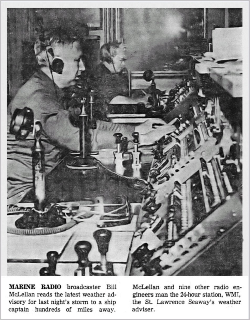 Journal Photo of WMI operating position in late 1966