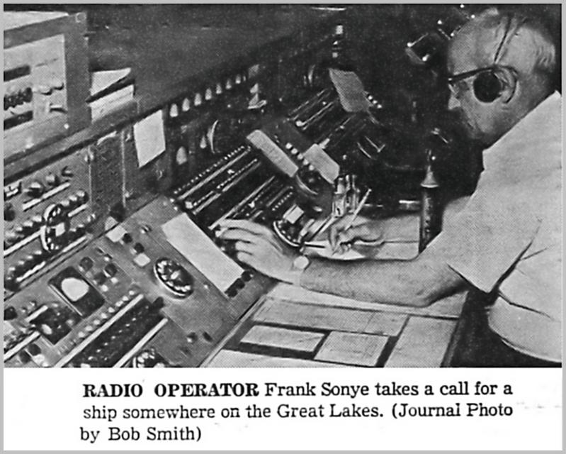 Lorain Journal photo of  Frank Sonye operating WMI